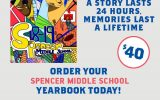 Order your Spencer Middle School Yearbook today
